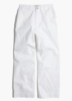 Madewell Wide-Leg Crop Jeans in Pure White
