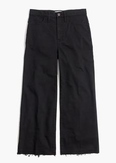 Wide-Leg Crop Jeans in True Black: Drop-Hem Edition