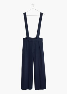 Wide-Leg Suspender Pants