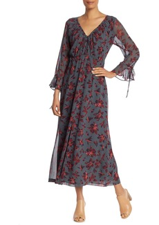 Madewell Willowleaf Tie Sleeve Maxi Dress