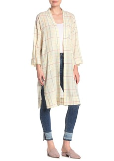 Madewell Windowpane Robe Jacket