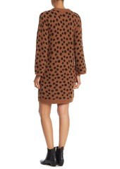 Madewell Wool Blend Leopard Print Sweater Dress