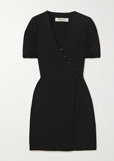 Madewell Wrap-effect Crepe Mini Dress