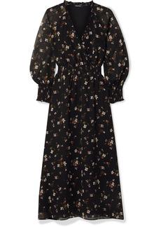 Madewell Wrap-effect Floral-print Chiffon Midi Dress
