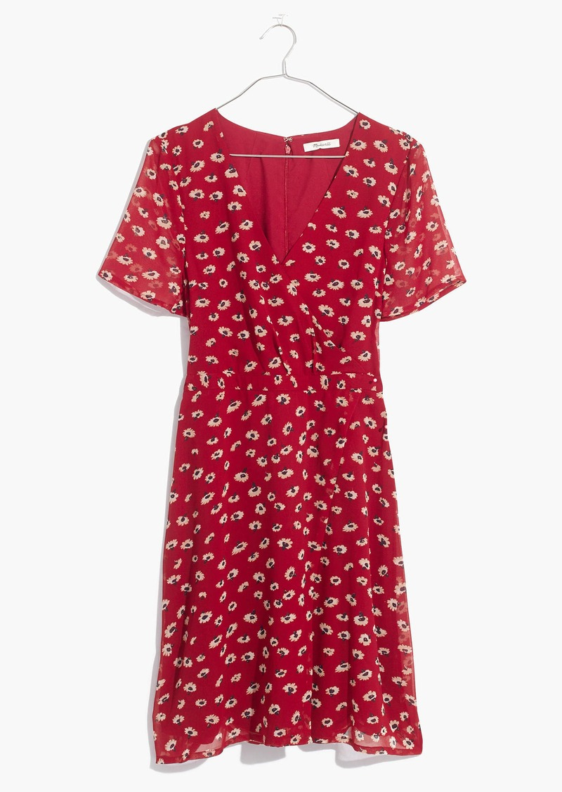 5244adcb0ed Madewell Wrap-Front Mini Dress in Seattle Floral