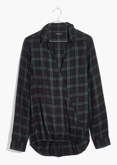 Madewell Wrap-Front Shirt in Palma Plaid