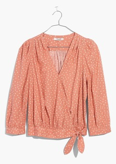 Madewell Wrap Shirt in Star Scatter