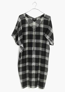 Zip-Front Dress in Buffalo Sketch