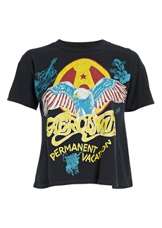 Madeworn Aerosmith Cropped Cotton T-Shirt