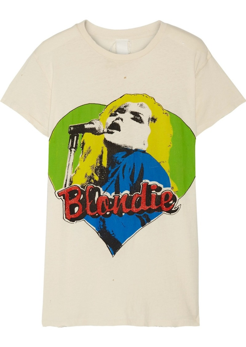 Madeworn Blondie Distressed Printed Cotton-jersey T-shirt