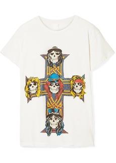 Madeworn Guns N' Roses Distressed Printed Cotton-jersey T-shirt