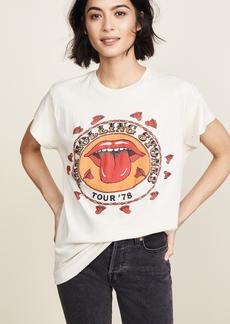 MADEWORN ROCK Rolling Stones 1978 Rock Printed Tee