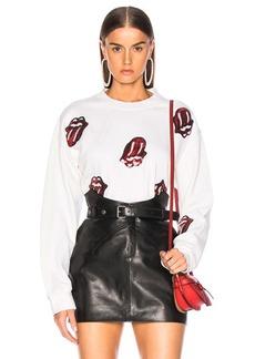Madeworn Rolling Stones Sequins Crew Fleece