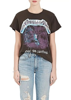 "Madeworn Women's ""Metallica"" Distressed Cotton T-Shirt"