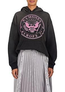 "Madeworn Women's ""Ramones"" Cotton-Blend Hoodie"