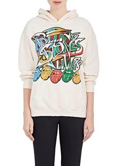 """Madeworn Women's """"Rolling Stones Live"""" Cotton-Blend Fleece Hoodie"""