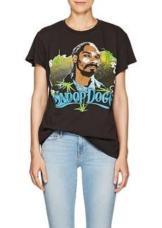 "Madeworn Women's ""Snoop Dogg"" Distressed Cotton T-Shirt"