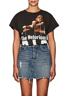 """Madeworn Women's """"The Notorious B.I.G."""" Distressed Cotton T-Shirt"""