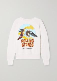 Madeworn Rolling Stones Printed Cotton-jersey Sweatshirt