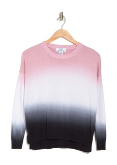 Magaschoni Long Sleeve Crewneck Ombre Sweater