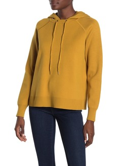 Magaschoni Long Sleeve Hooded Drawstring Pullover Sweater
