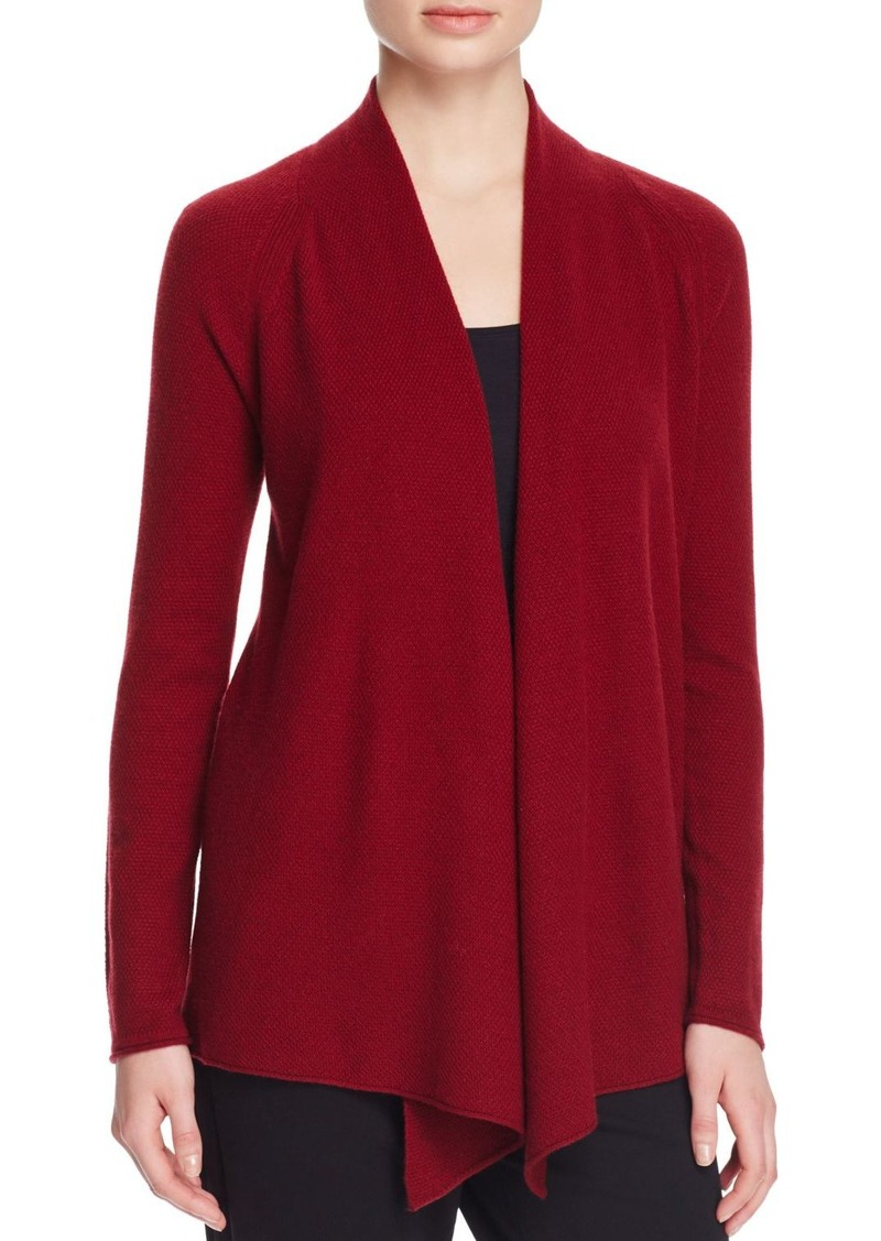 Magaschoni Basic Textured Cashmere Cardigan