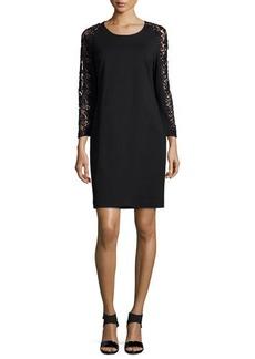 Magaschoni Lace-Sleeve Sheath Dress