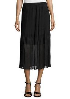 Magaschoni Pleated Chiffon Midi Skirt