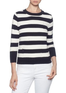 Magaschoni Ribbed Striped Sweater