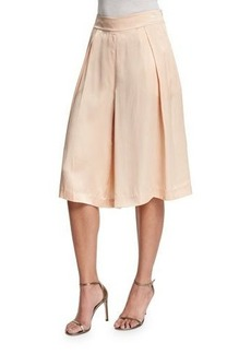 Magaschoni Silk Pleated Long Skort