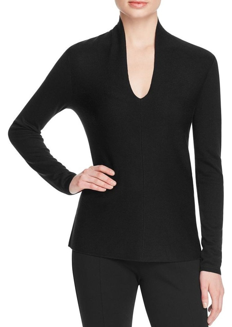 Magaschoni V-Neck Silk Cashmere Sweater