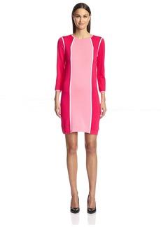 Magaschoni Women's Color Block Dress  XS