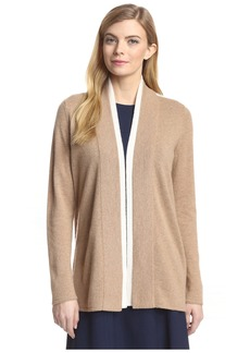 Magaschoni Women's Colorblock Open Cardigan  XS