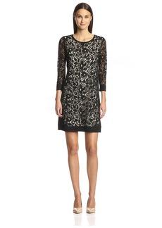 Magaschoni Women's Lace Sheath Dress  L