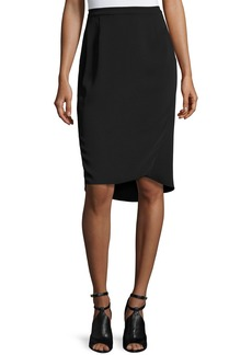 Magaschoni Signature Relaxed High-Low Faux-Wrap Skirt