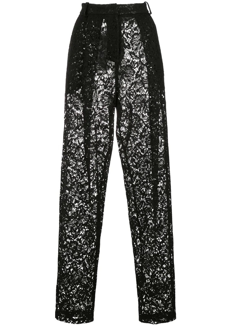 Magda Butrym tapered lace trousers