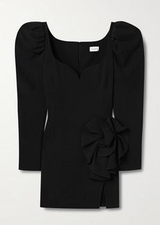 Magda Butrym Appliqued Stretch-wool Crepe Mini Dress