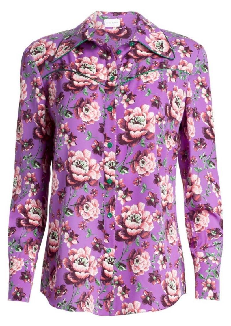 Magda Butrym Dalian Floral Silk Blouse