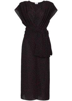 Magda Butrym Diablo gathered silk midi dress