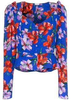 Magda Butrym evora floral print silk blouse