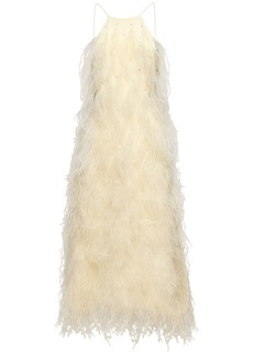 Magda Butrym Exclusive Embellished Silk Midi Dress