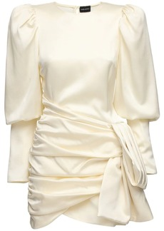 Magda Butrym Exclusive Taffeta & Jacquard Mini Dress