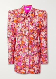 Magda Butrym Floral-print Silk Mini Shirt Dress