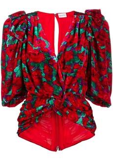 Magda Butrym floral print wrap blouse