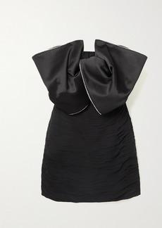 Magda Butrym Georgette And Swarovski Crystal-embellished Silk-satin Mini Dress