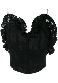 Magda Butrym lace corset top