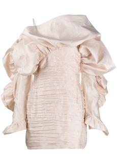 Magda Butrym ruffled fitted dress