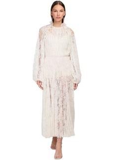 Magda Butrym Ruffled Lace Midi Dress