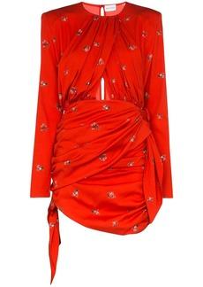 Magda Butrym San Remo floral-print stretch-silk mini dress