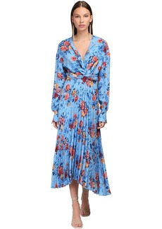 Magda Butrym Silk Crepe Jacquard Midi Dress